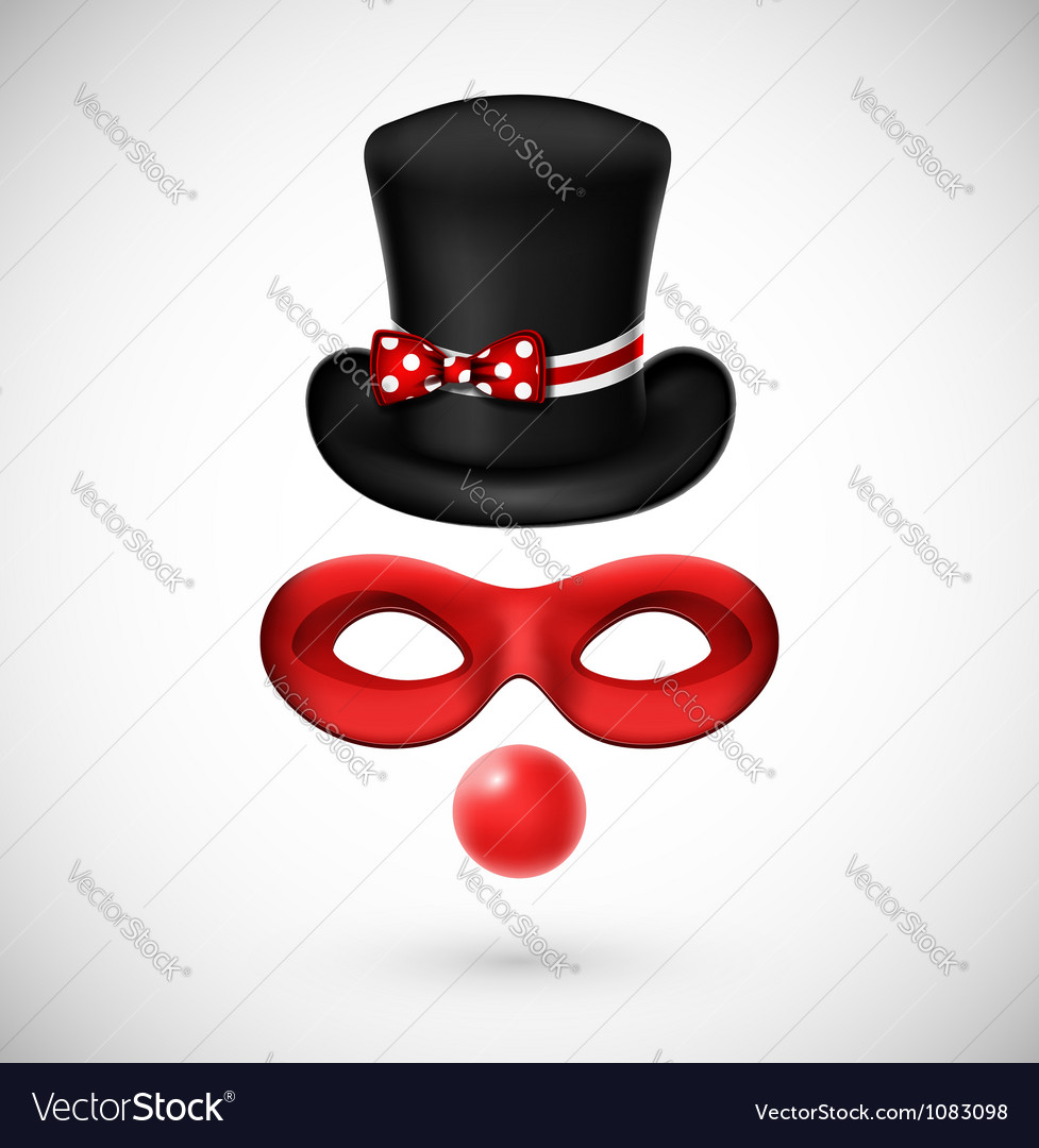 Accessories a clown vector