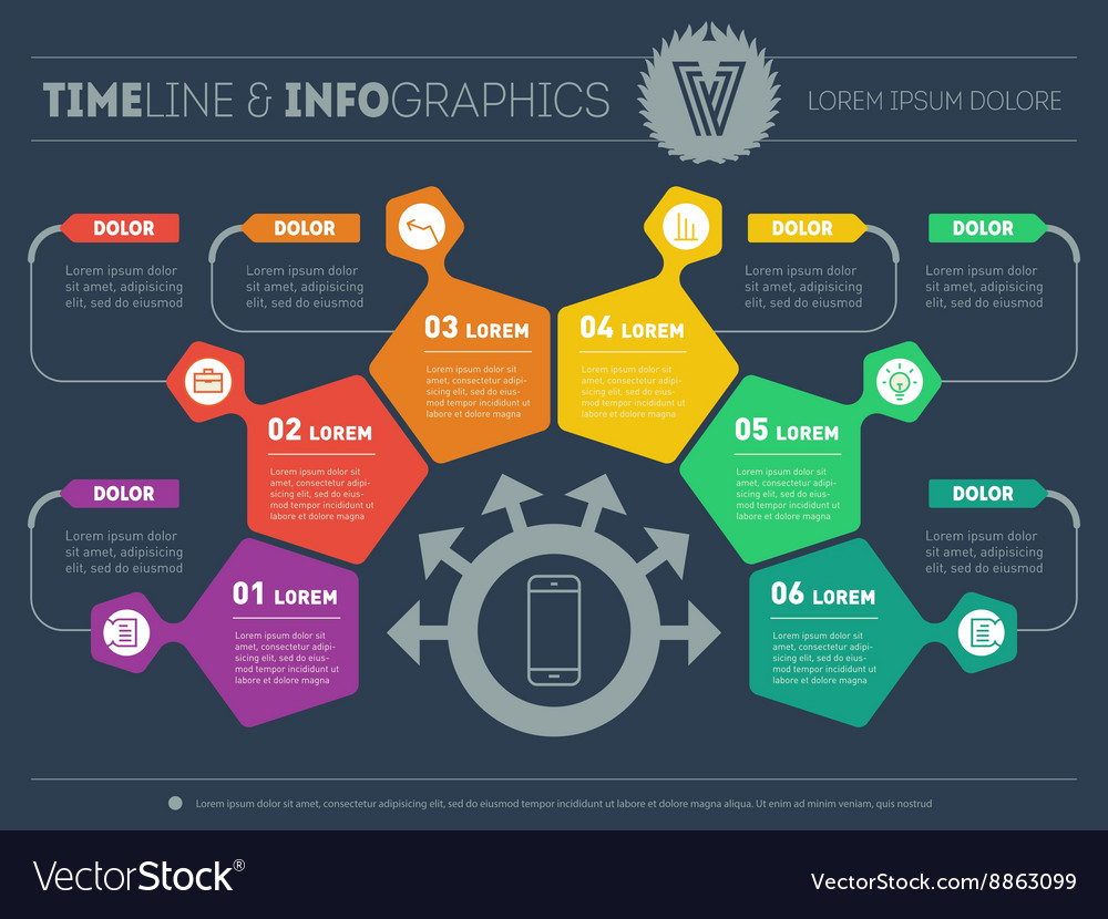 Business Plan With 6 Steps Infographic With Design Vector By Thebackground Image 8863099