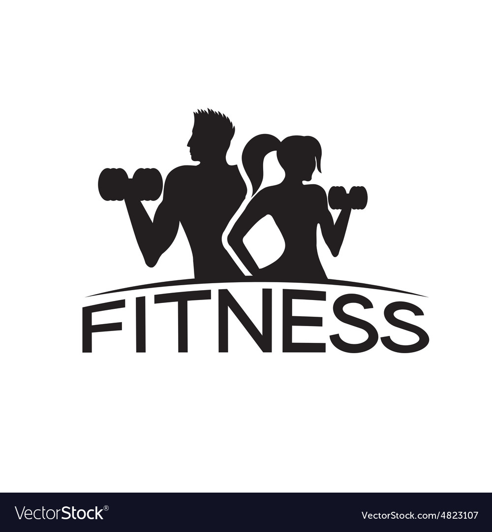 Man And Woman Of Fitness Silhouette Character Vector By