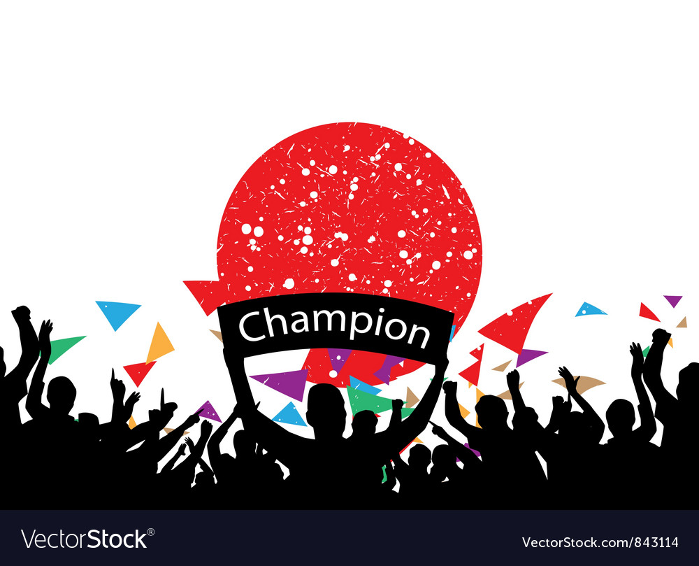 Crowd cheer japan vector