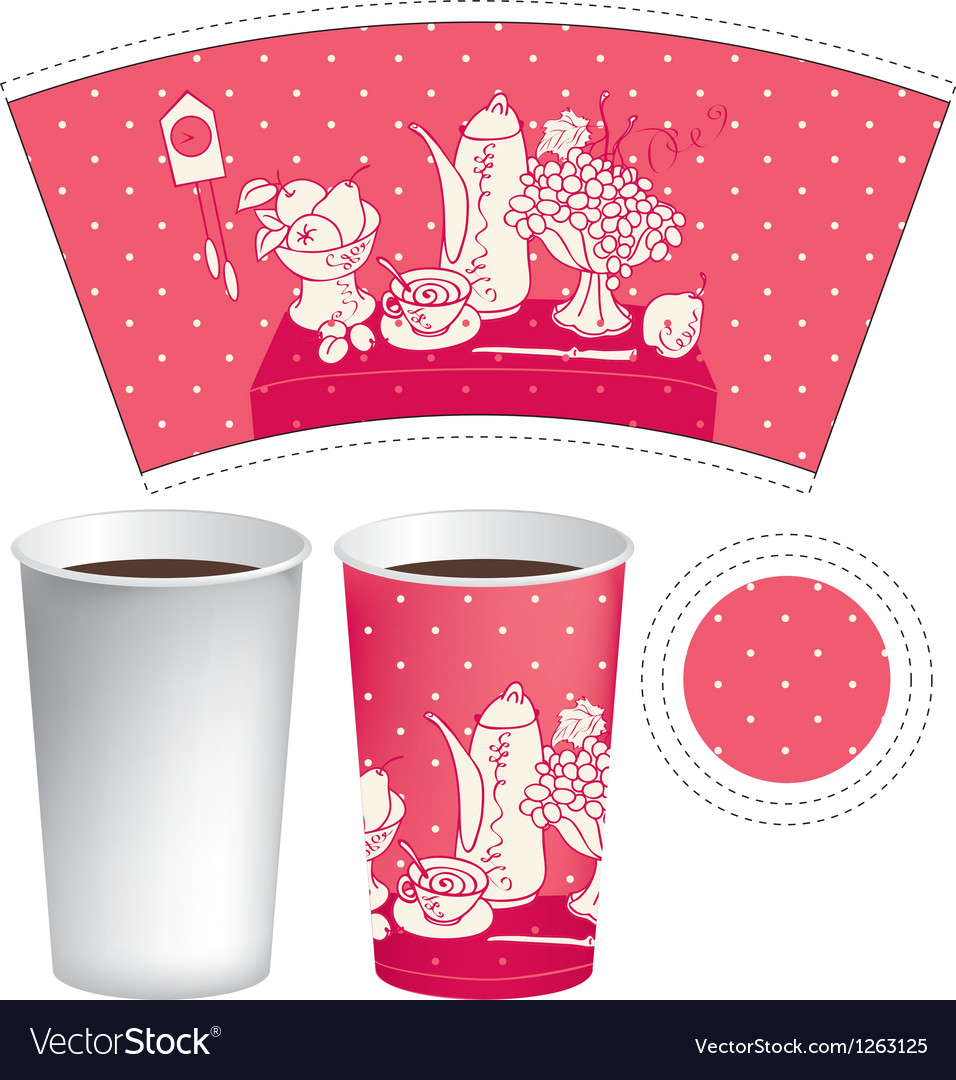 Paper cup of tea vector