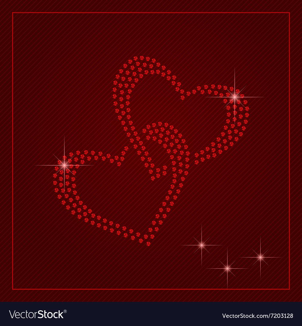 Rhinestone valentines day template