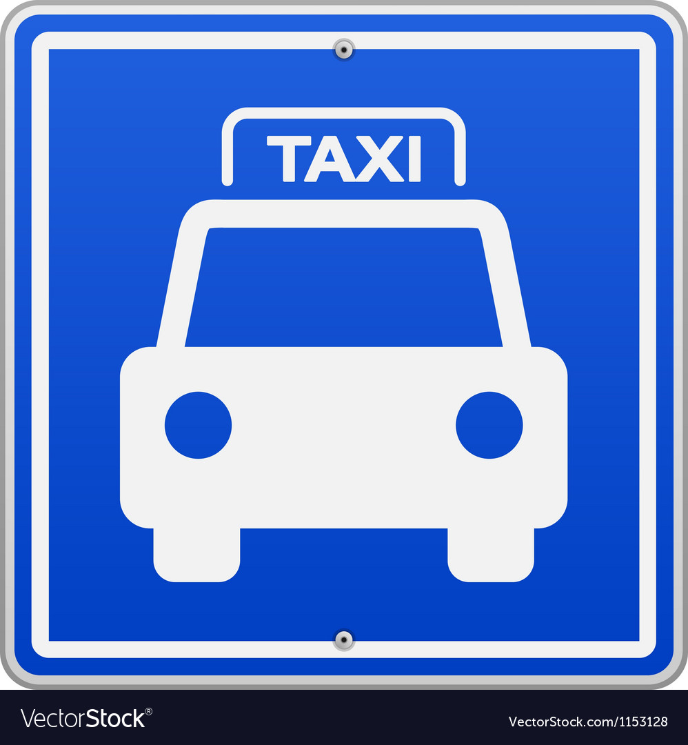 Taxi blue sign vector
