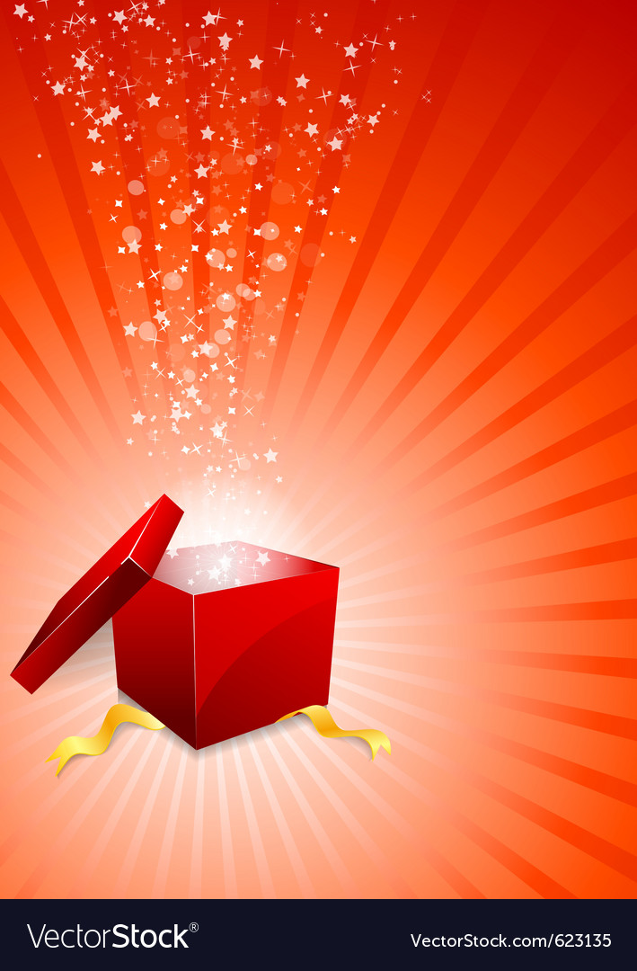Background with box vector