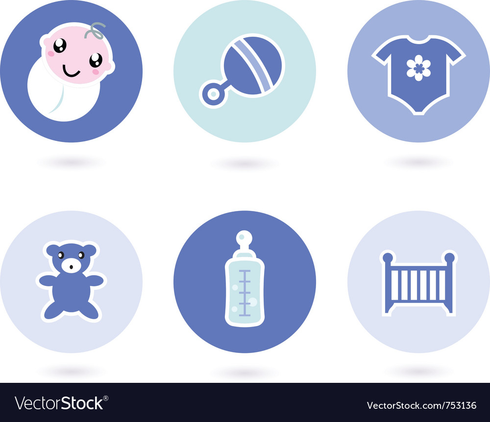 Icons and objects vector