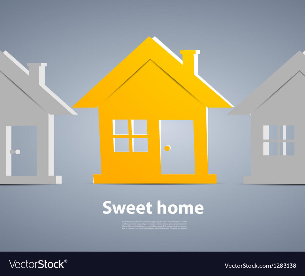 Orange house vector
