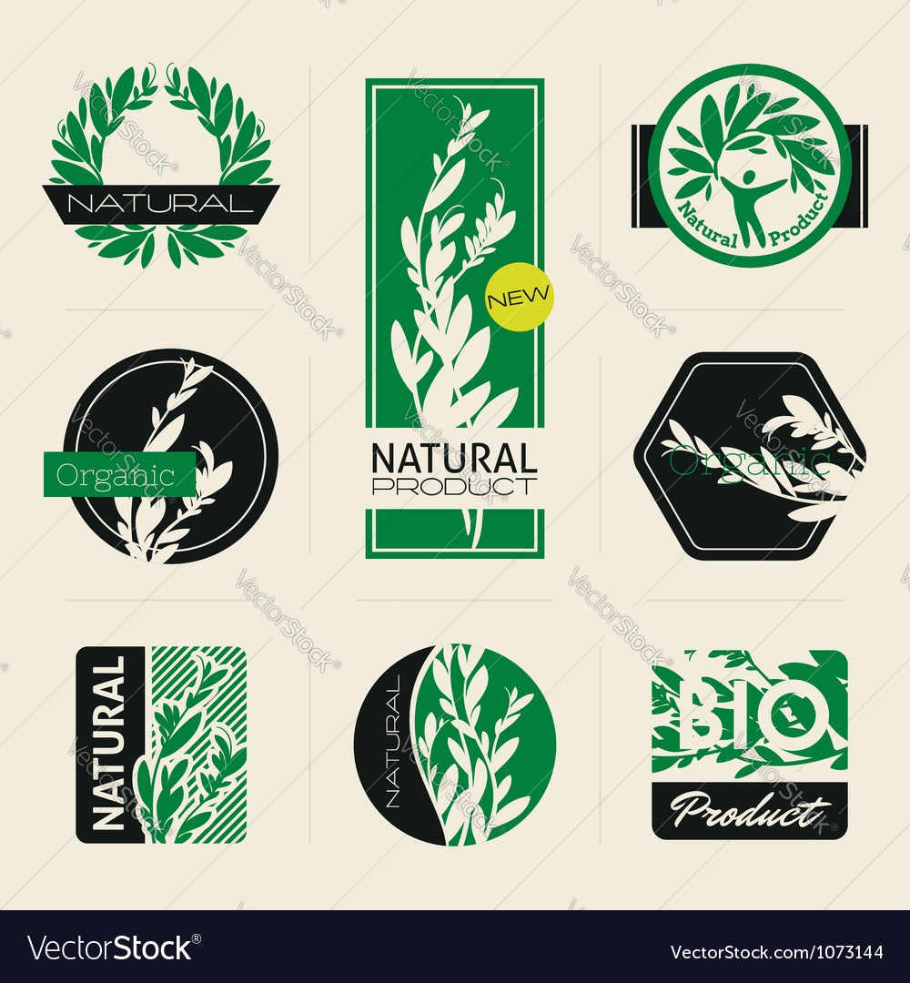 Naturethemed labels vector