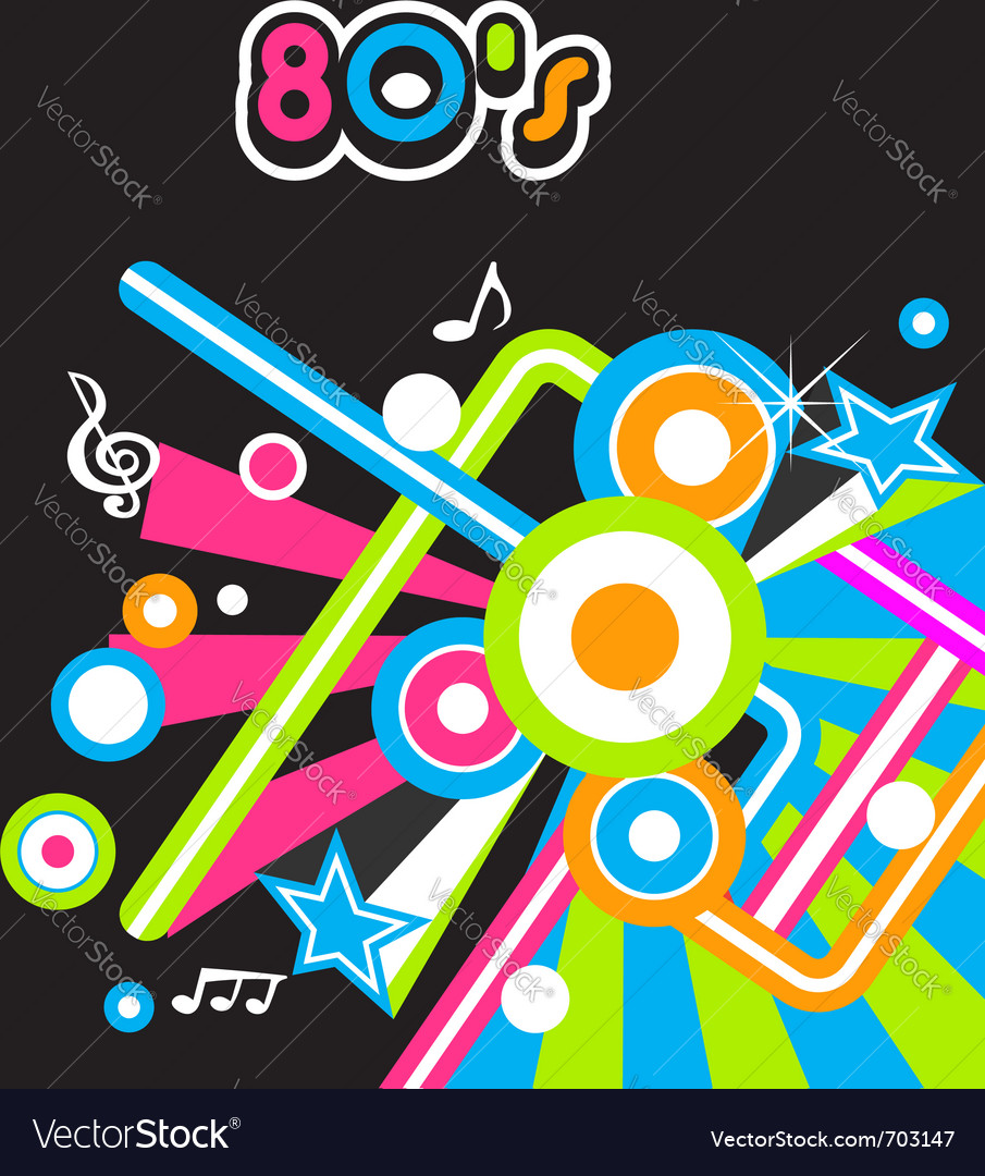 80s music vector