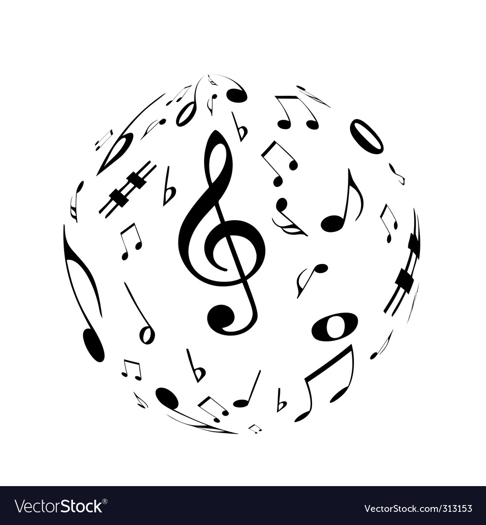 Music sphere vector