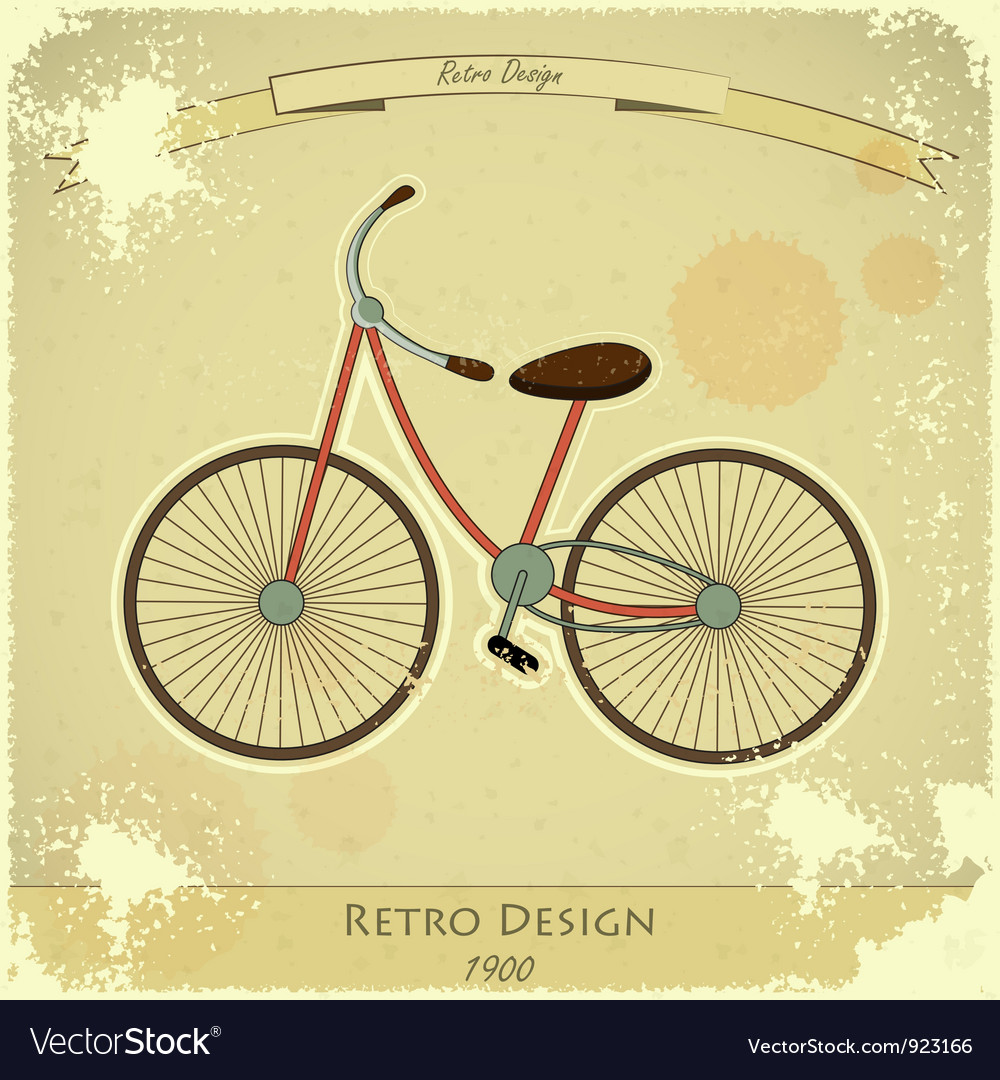 Retro bicycle vector