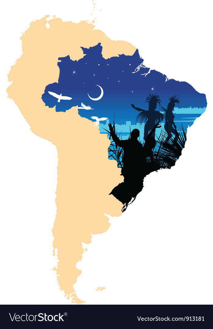 South america vector