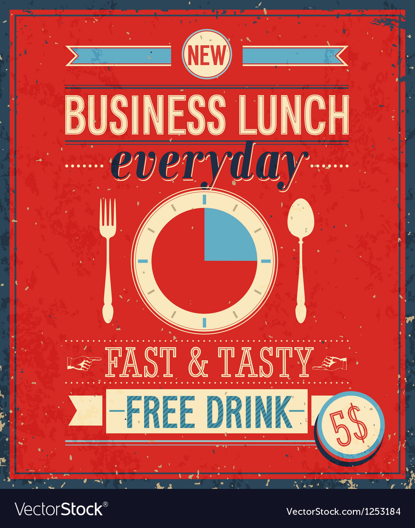 Lunch color vector