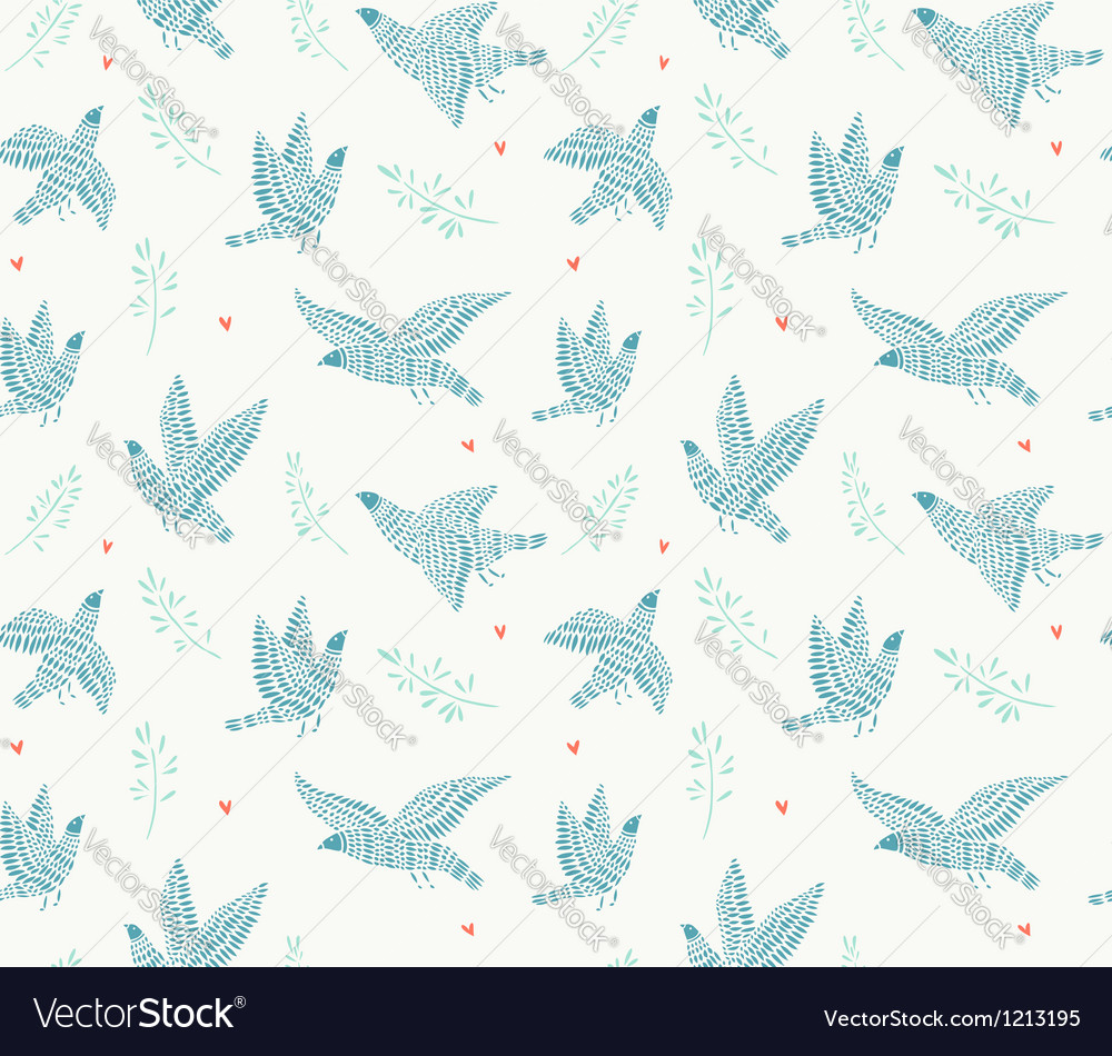 Birds pattern vector