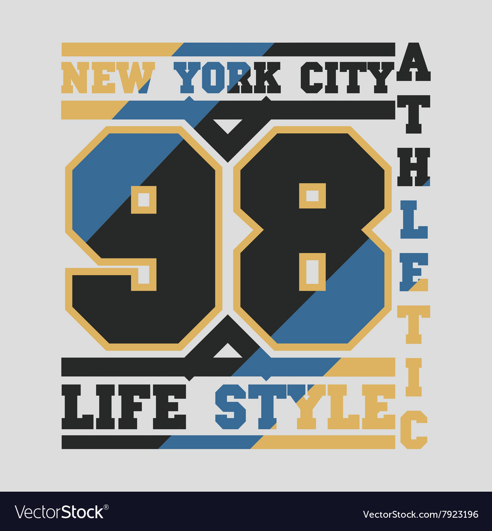 New york typography design graphic