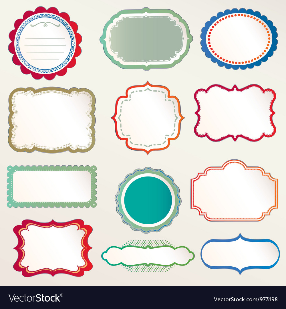 Frame labels set vintage vector