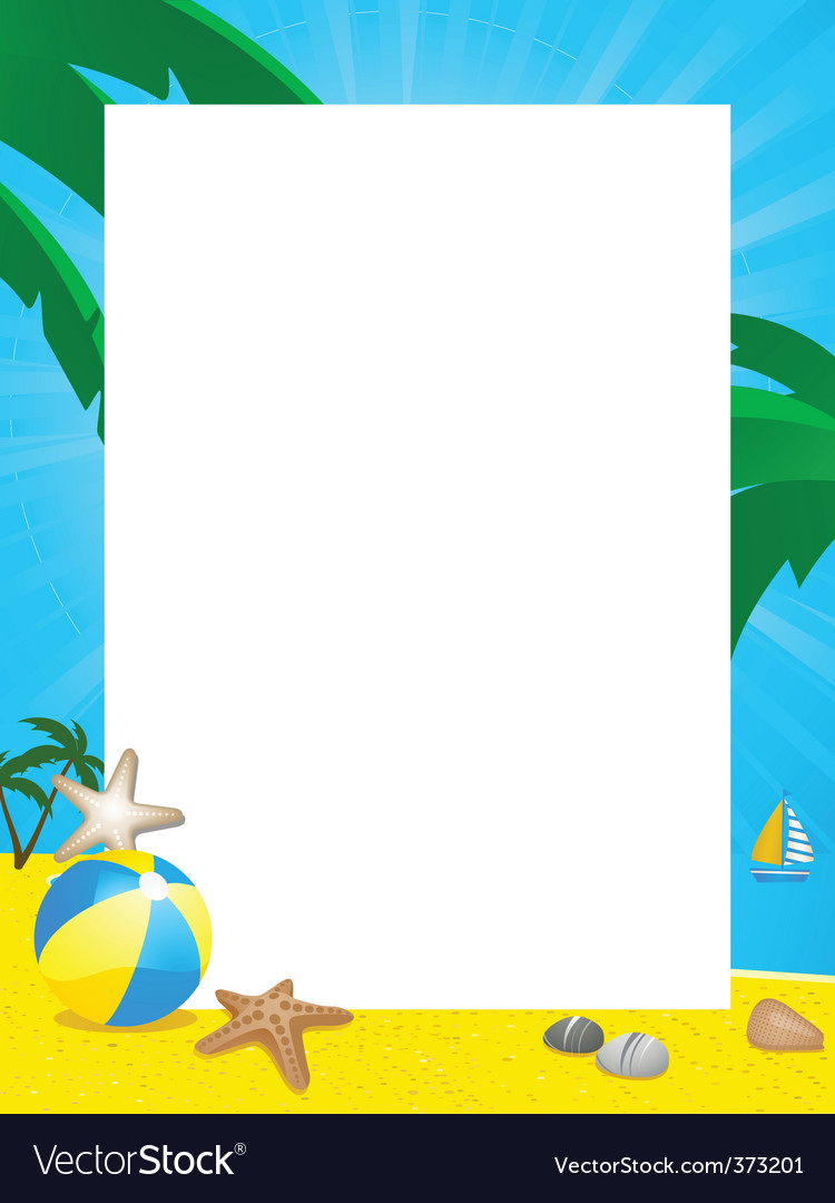 Summer border vector