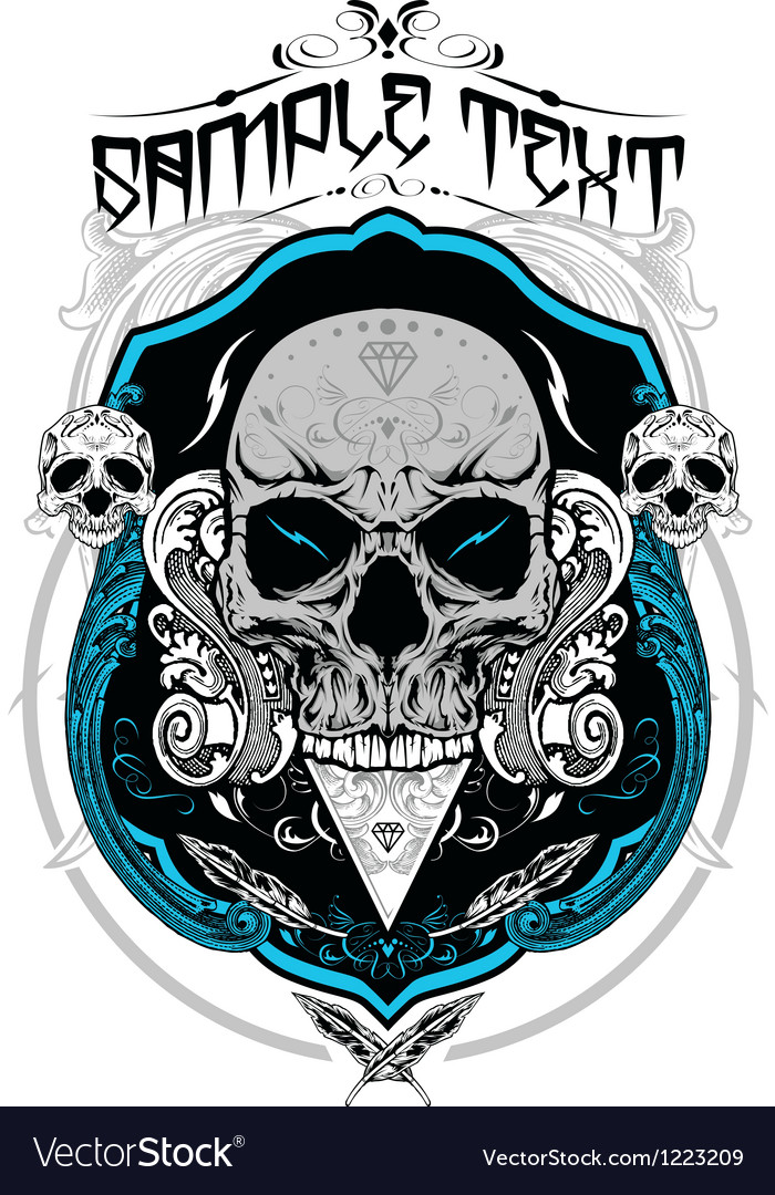 Decorative skull vector