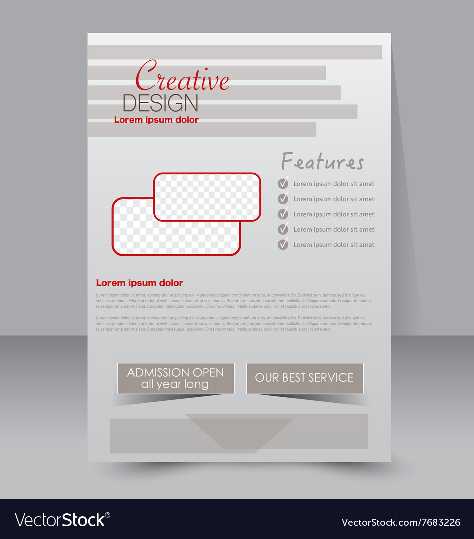Flyer template business brochure editable a4 vector by for Editable brochure templates free