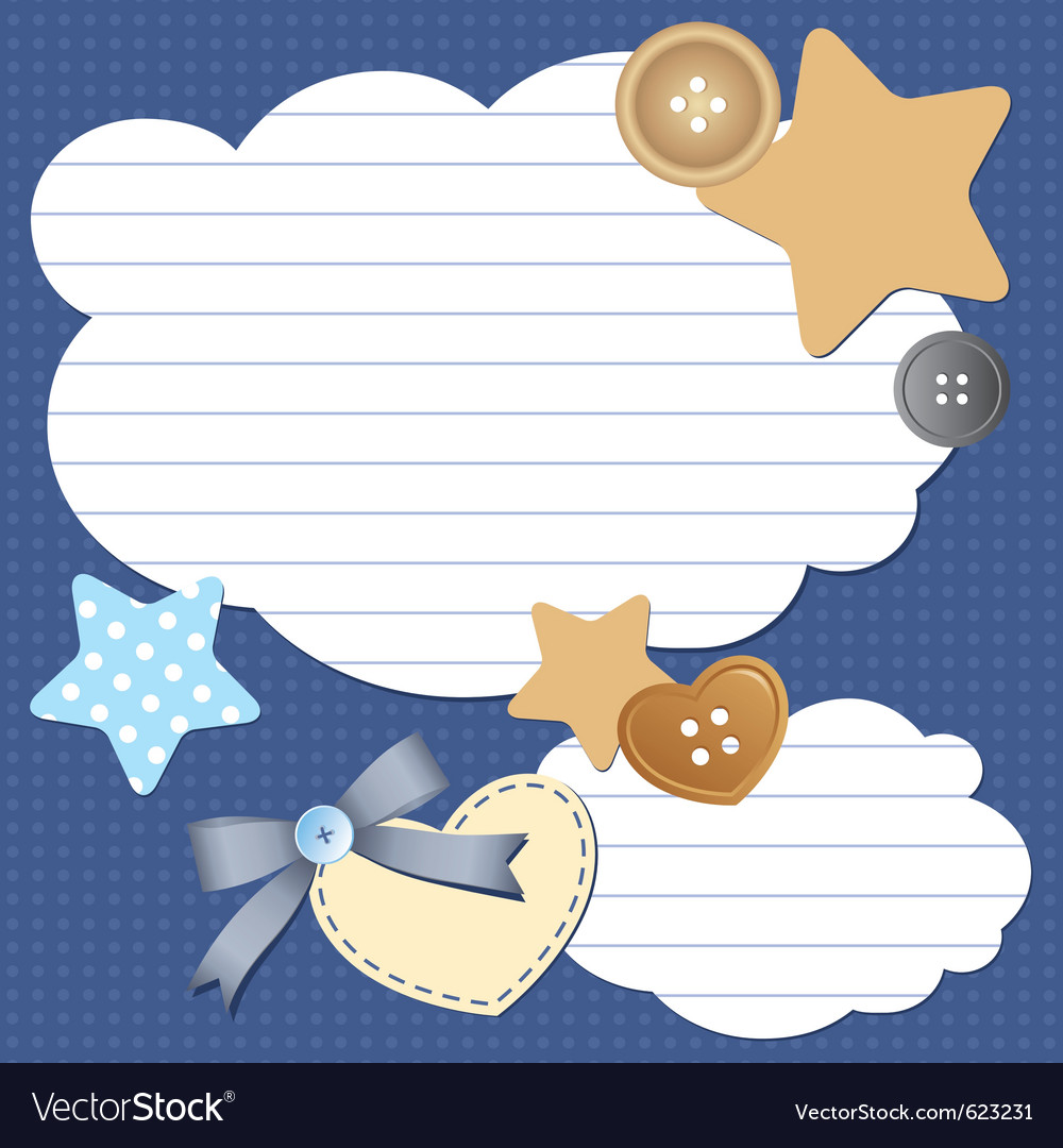 Frame with clouds vector