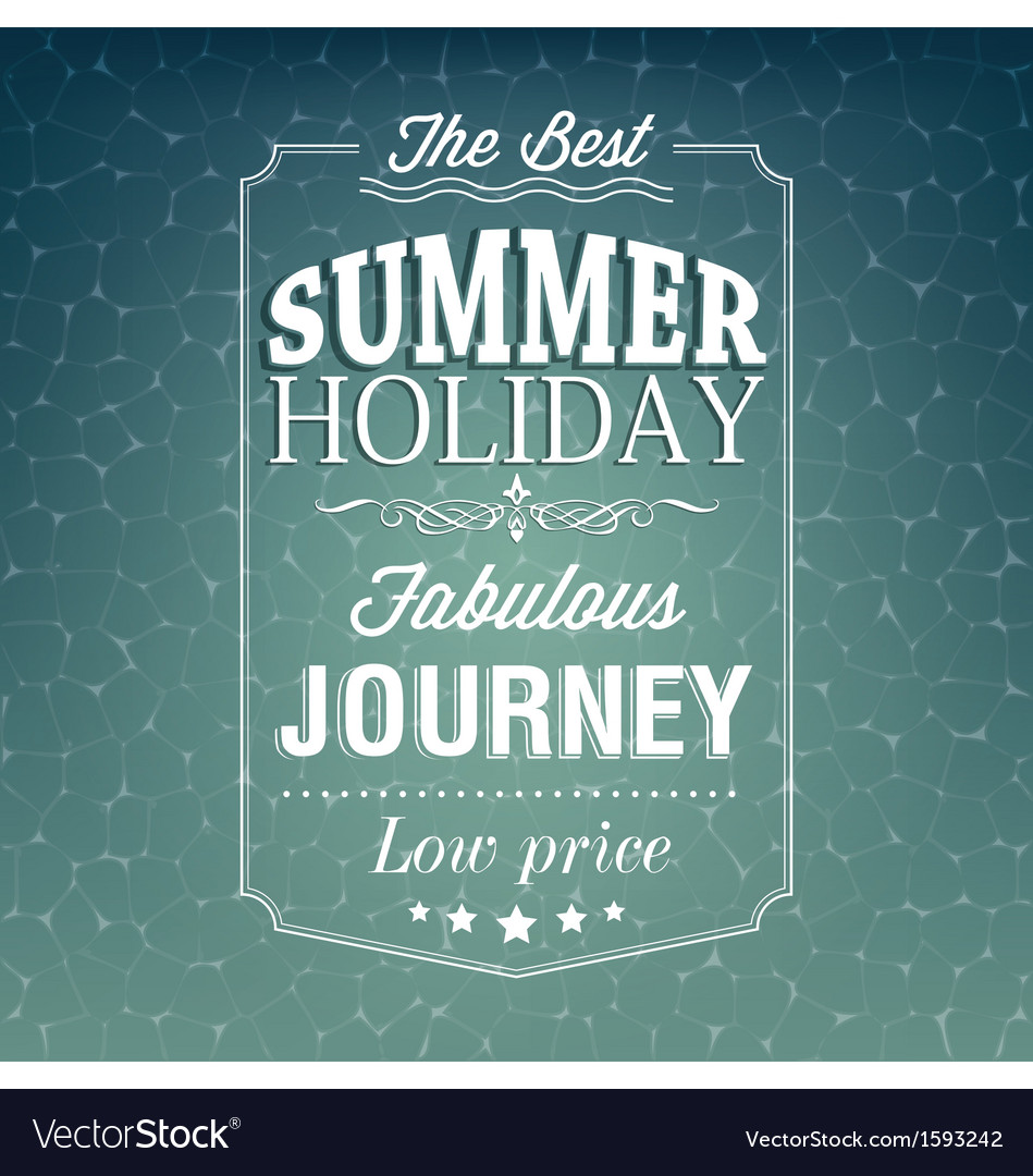 Best summer holiday typography background