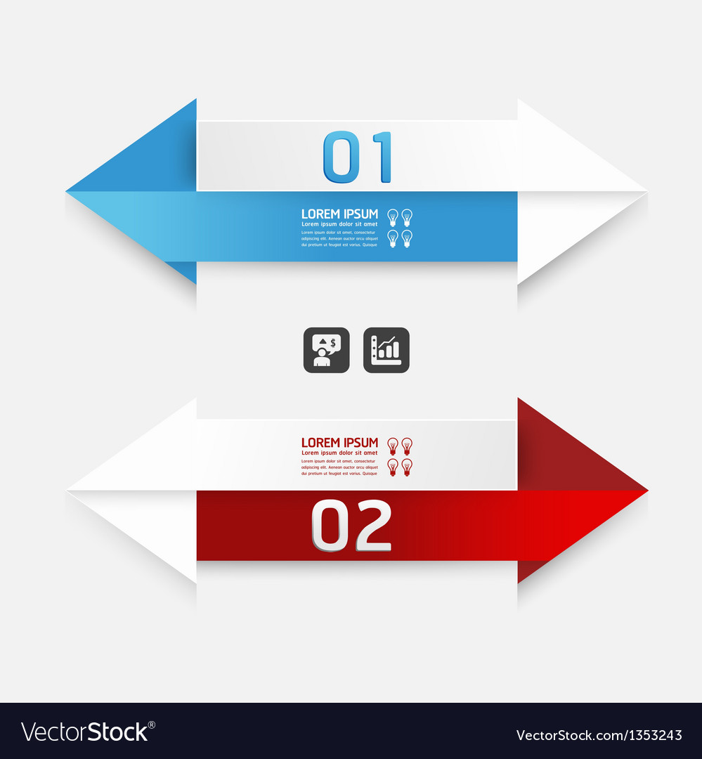 Modern design arrow template banners vector