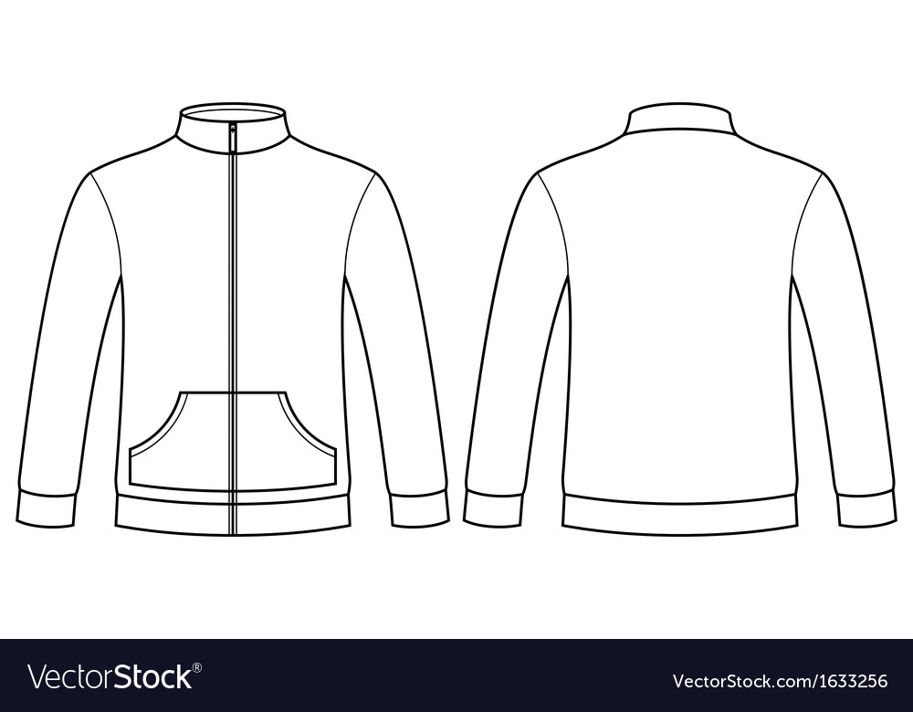 blank sweatshirt template vector by nikolae image 1633256