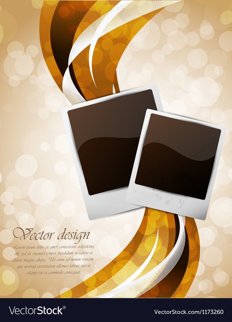 Bright background with photo frames vector