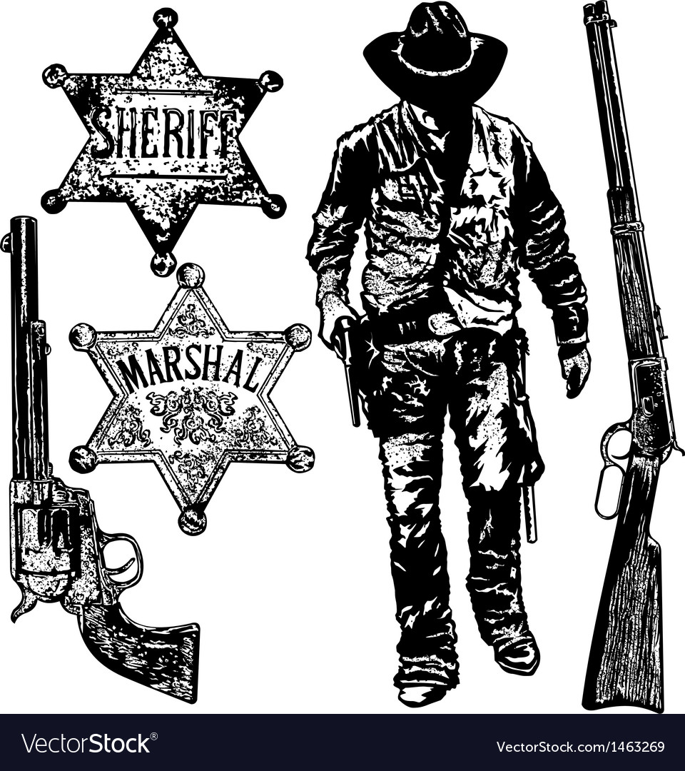 Old west set vector