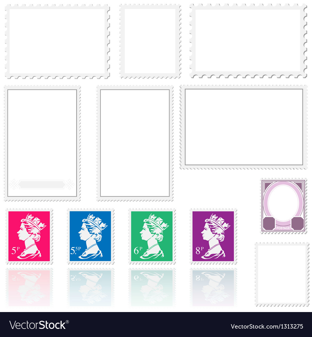 Postmark template set vector