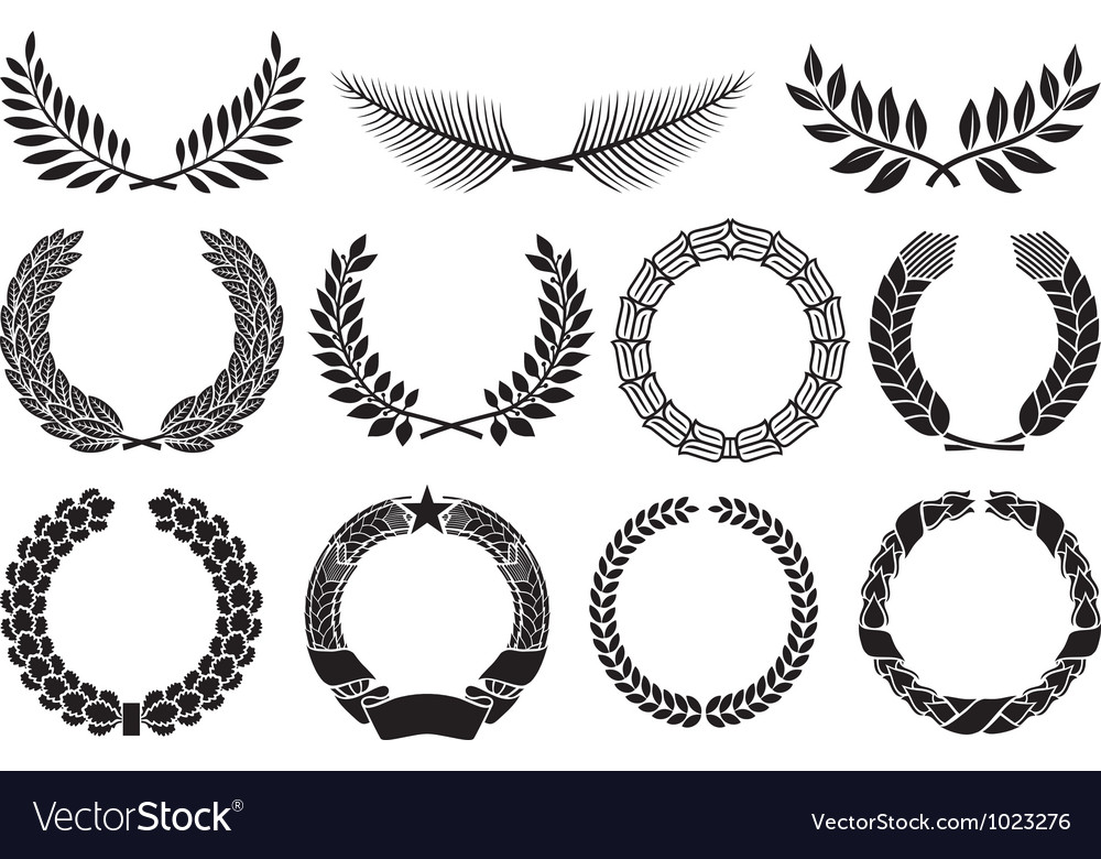 Laurel wreath collection vector