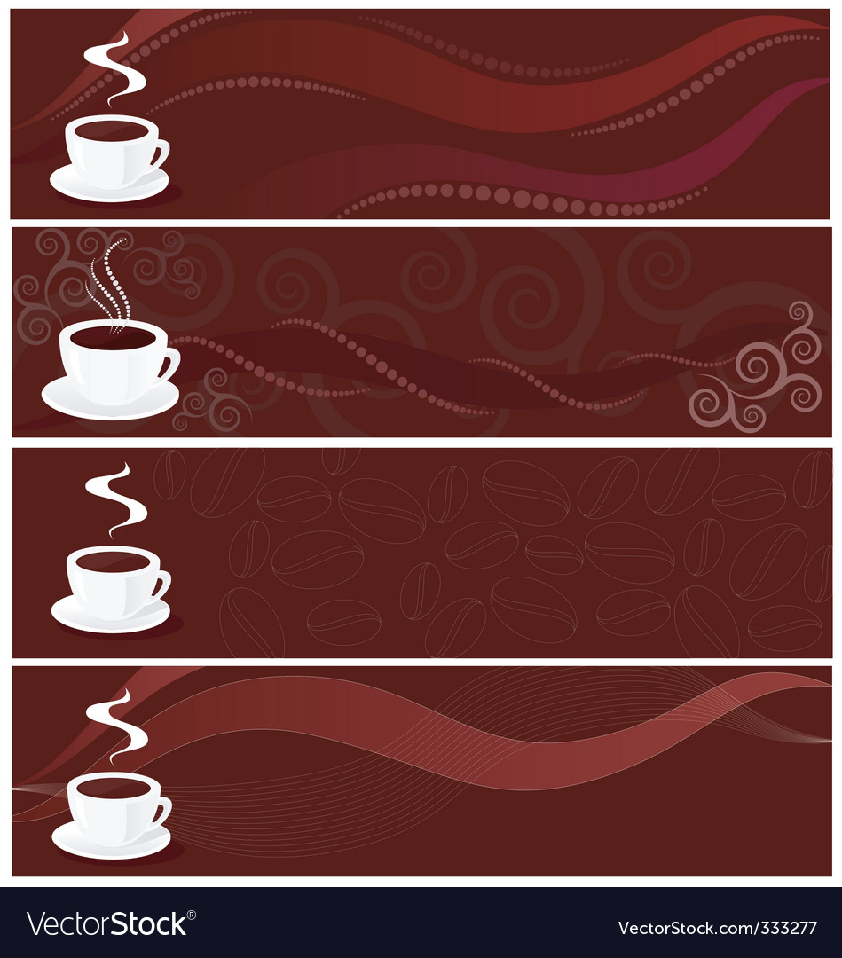 Coffee banners vector