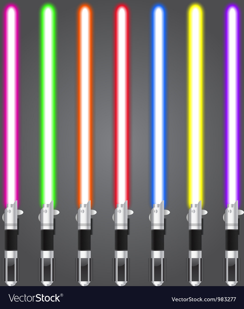 Lightsaber set vector