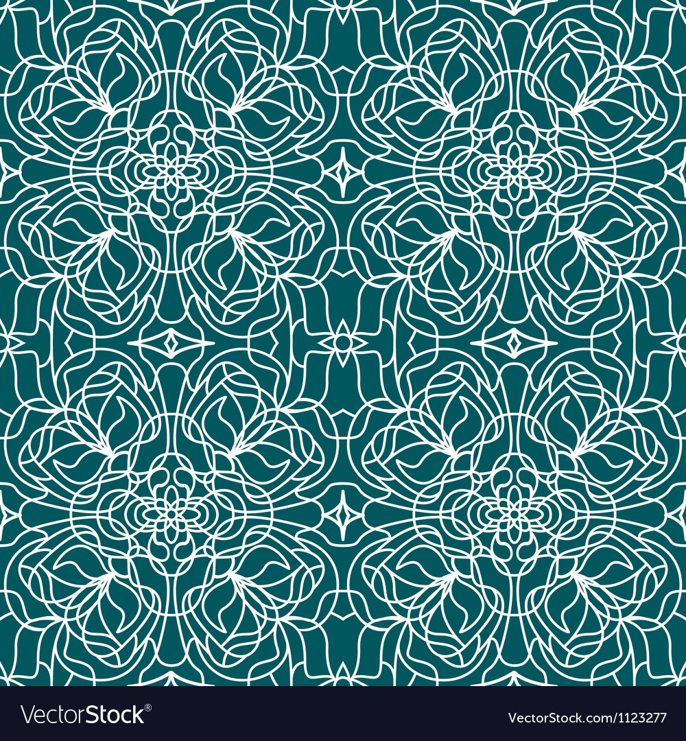 Seamless pattern tiffany vector