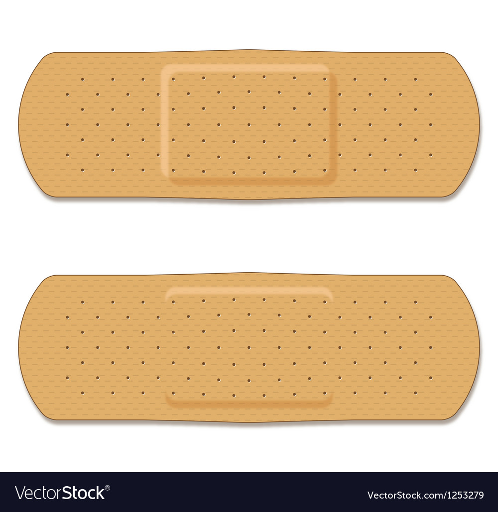 Band aid double set vector