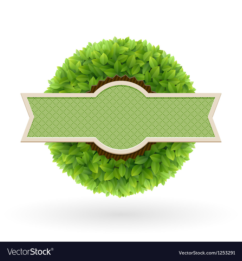Foliage lable vector