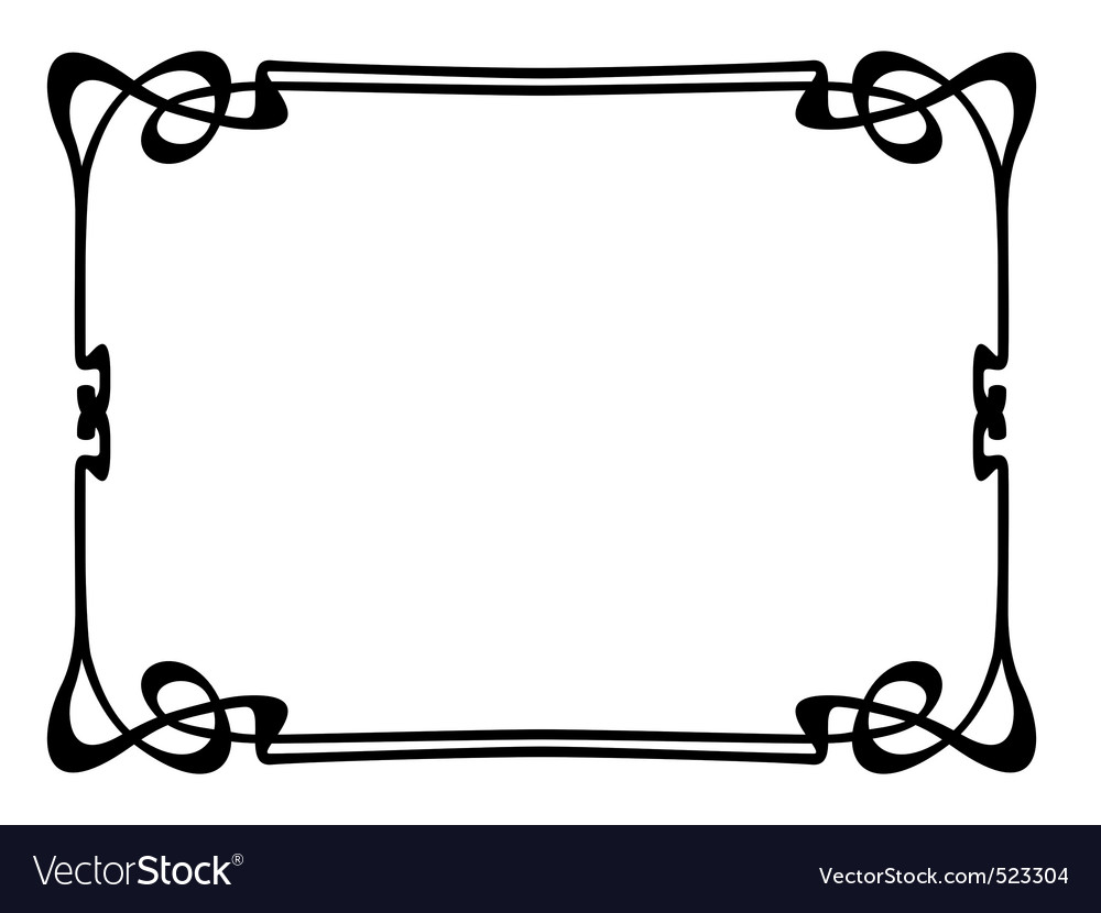 Art nouveau ornamental decorative frame vector by 100ker - Image ...