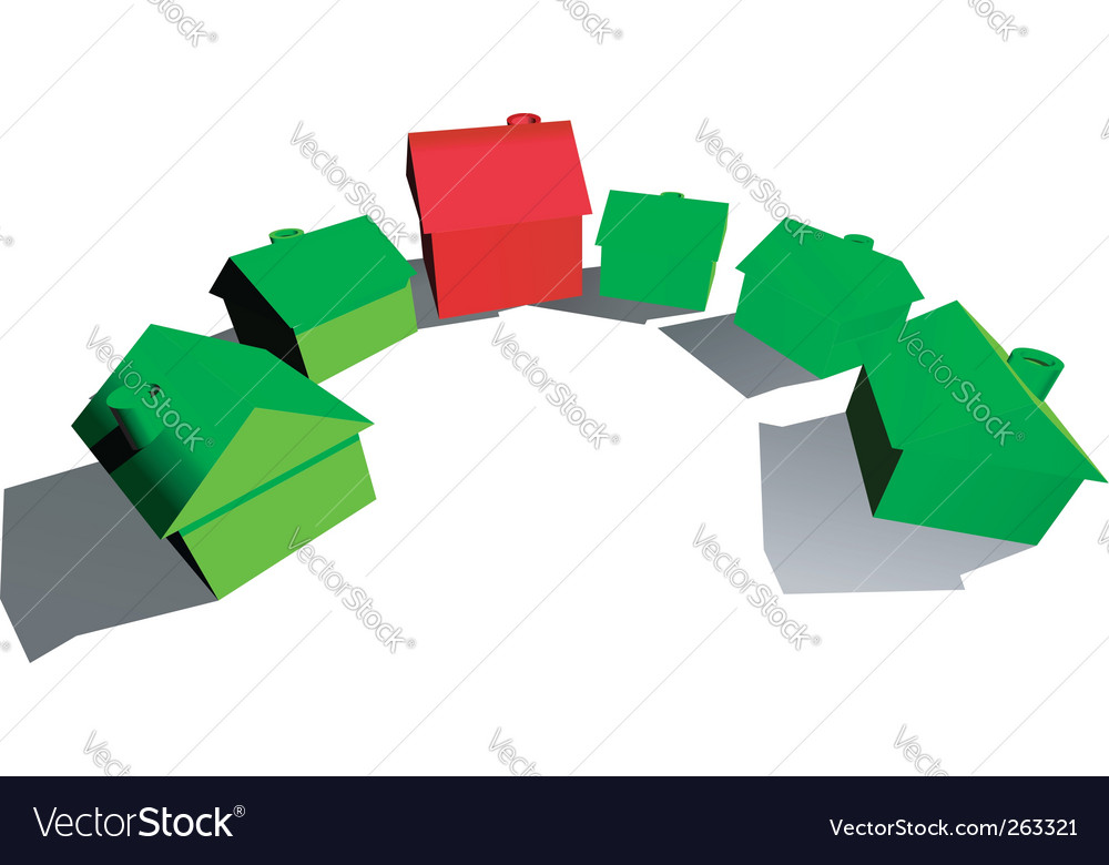 Hotel and houses vector