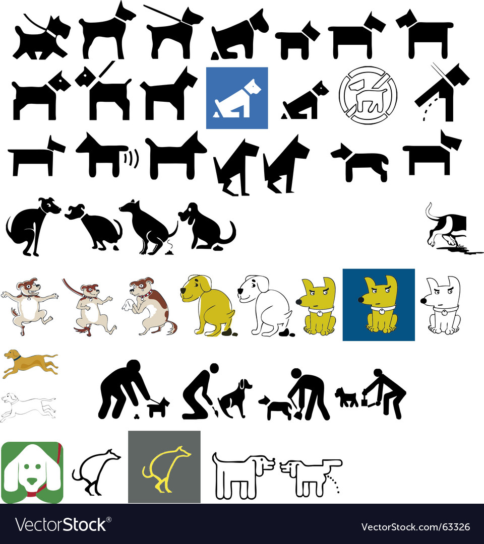 Dog signs vector