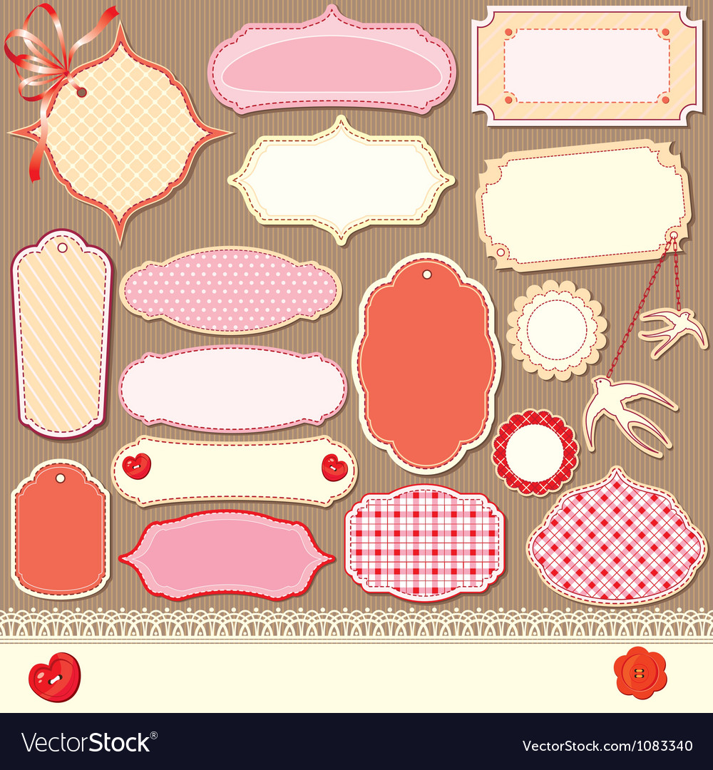 Vintage design elements  different labels vector