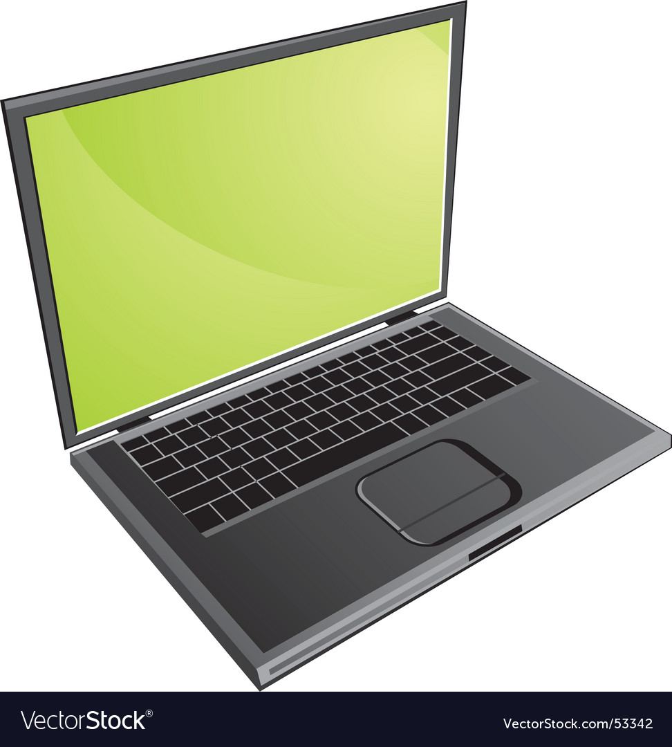 Notebook pc vector