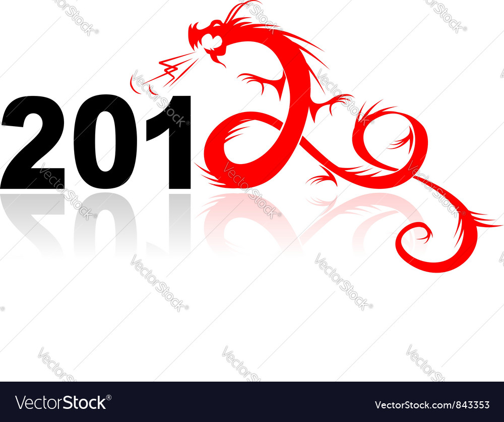 2012 year of dragon vector