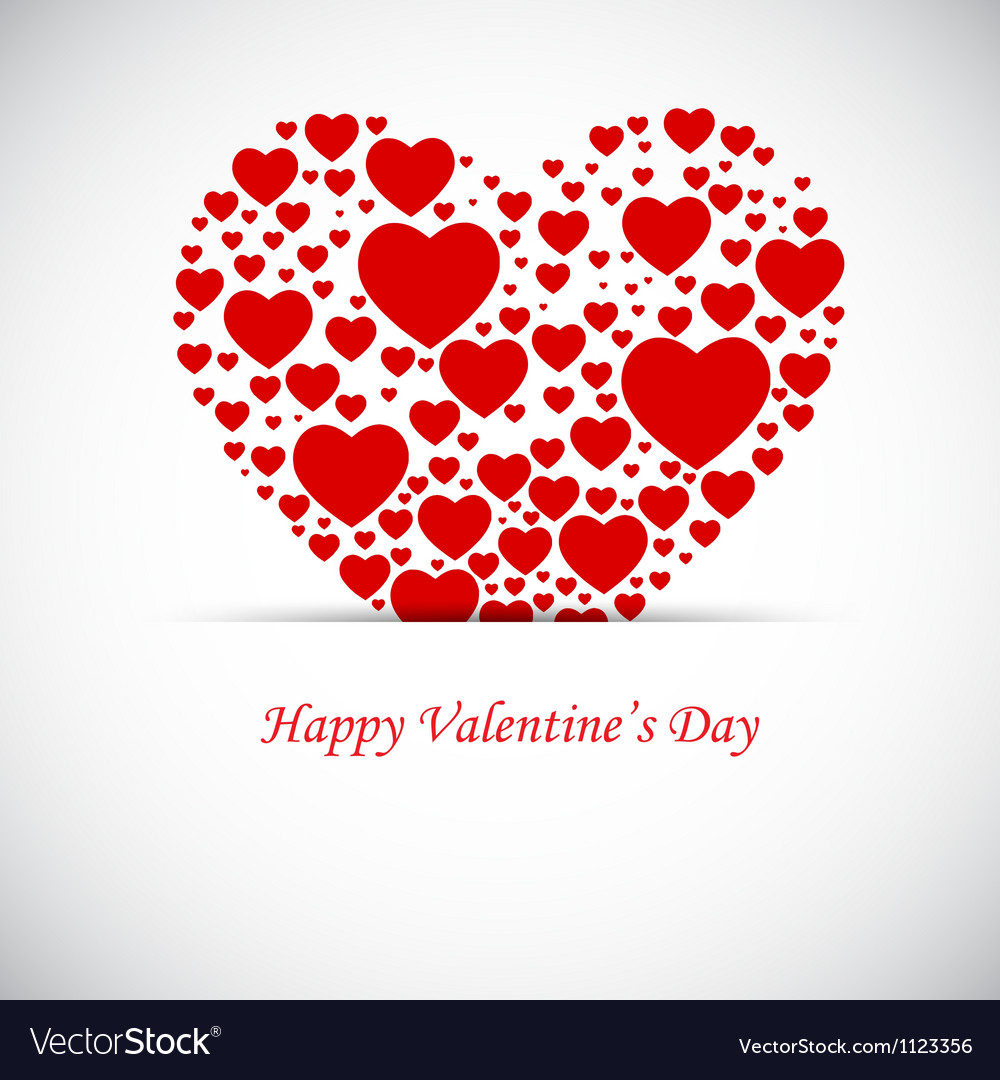 Valentine background vector