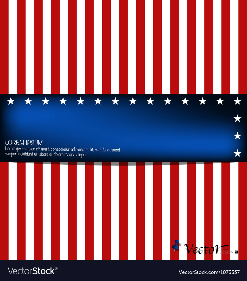 American flag card vector