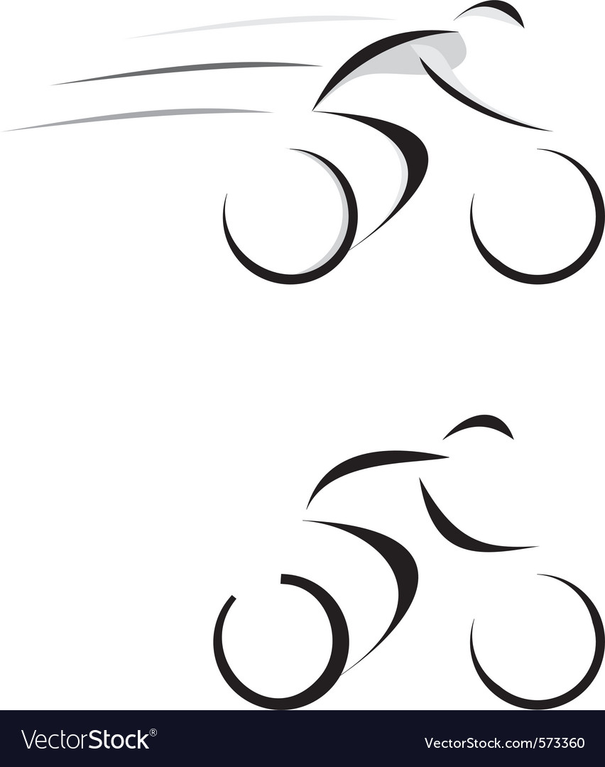 Racing cyclist sketch vector