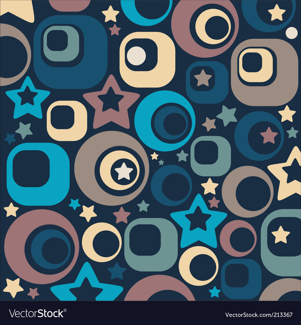 Stars and circles vector
