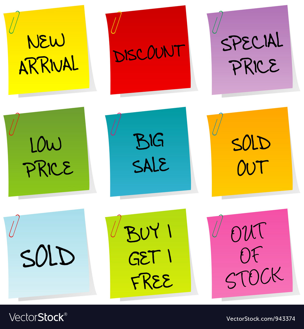 Sale announcements vector