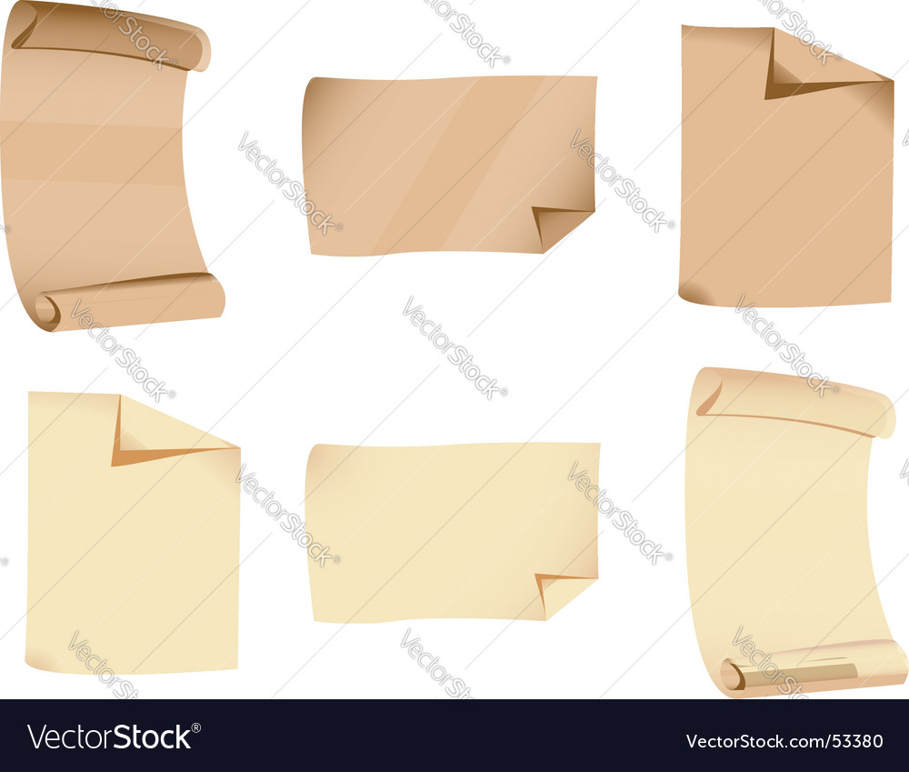 Old papers vector