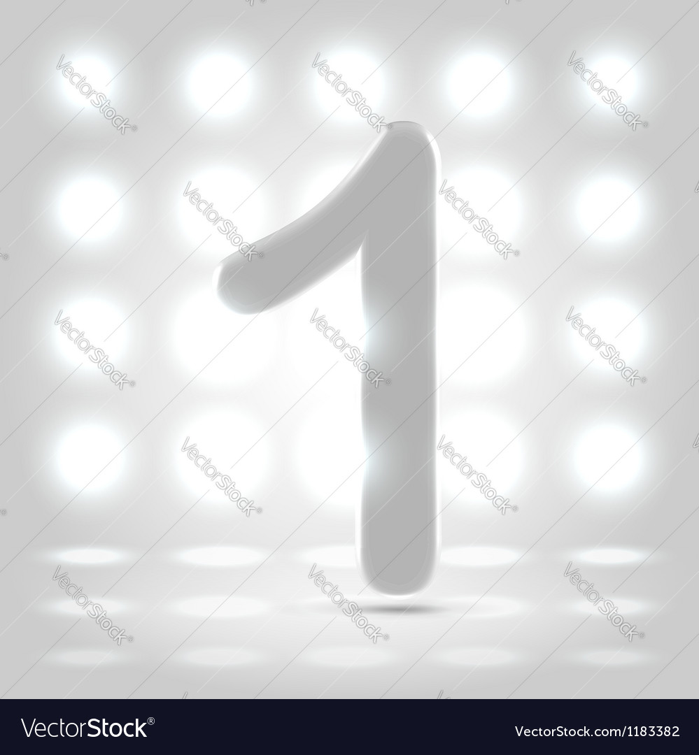 1 over back lit background vector
