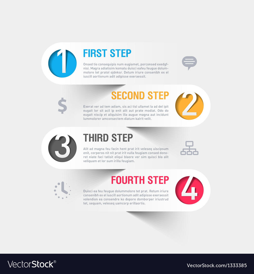 Business steps infographics template vector