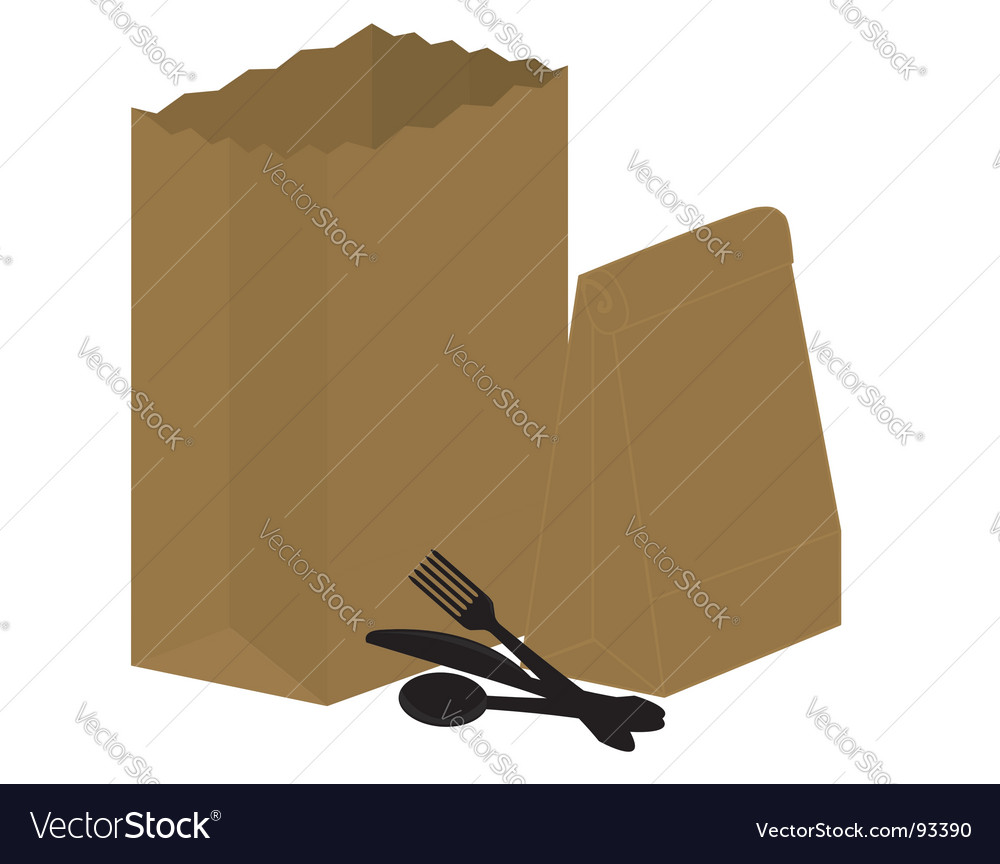 Supermarket bag vector